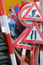 Traffic signs a lot of old Royalty Free Stock Photo