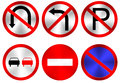 Traffic signs six vector on white background eps vector gradient mesh used Royalty Free Stock Image