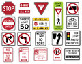 Traffic Signs in the United States - Regulatory Series Stock Photo