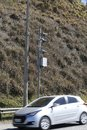 Traffic Speed Camera. Police radar Royalty Free Stock Photo