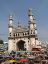 Traffic surrounds the Charminar Royalty Free Stock Photo