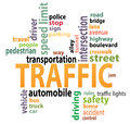 Traffic tags tag cloud artwork design Royalty Free Stock Photos