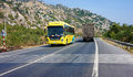 Traffic of transport vehicle on highway 1A Royalty Free Stock Photo