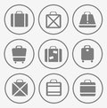 Traffic trunks a set of vector images of and bags Stock Photo