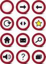 Traffic web navigation icon set Royalty Free Stock Photography