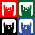Traffic wild bears icon or sign, EPS10 Royalty Free Stock Photo