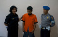 Traffickers of narcotics police arrested in the town solo central java indonesia Royalty Free Stock Image