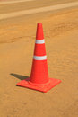 Traffict cone on the road under construction Royalty Free Stock Images