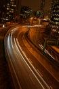 Trafic at night Stock Photo
