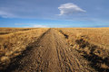 Trail across the high plains Royalty Free Stock Photography