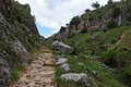 Trail in gorge Mirador de Bailon near Zuheros  in Stock Photography