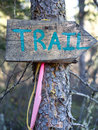 Trail marker Royalty Free Stock Photography