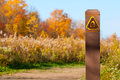 Trail marker Stock Photography