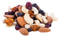 Trail Mix isolated on white Royalty Free Stock Photo