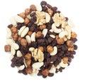 Trail mix nuts and raisins Royalty Free Stock Photo