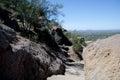 Trail pass between granite rocks  at Pinnacle peak Royalty Free Stock Photo
