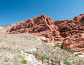Trail in Red Rock Canyon Royalty Free Stock Photo