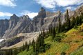 Trail thru the Mountains, Glacier National Park Royalty Free Stock Photo