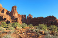 Trail to Fisher towers Royalty Free Stock Photo