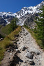 Trail to Monte Rosa Royalty Free Stock Images