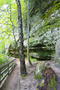 Trail to Munising Falls Royalty Free Stock Photo