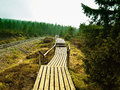 Trail to the summit of the Brocken Stock Photo