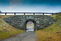 Trail tunnel under blue ridge parkway a small allows hikers and horseback riders to cross the Stock Photos