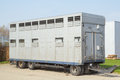 stock image of  A trailer animal transport