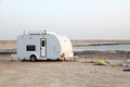 Trailer on the beach of arabian gulf in qatar middle east Royalty Free Stock Image