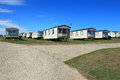 Trailer or caravan park the entrance to a during the summer static holiday caravans some are privately owned are some are owned by Royalty Free Stock Photos