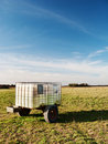 Trailer in the countryside Stock Image