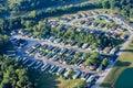 Trailer Park neighborhood Aerial Royalty Free Stock Photo