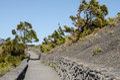 Trails of la palma canary islands spain Stock Photos
