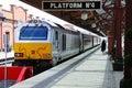 Train alongside platform birmingham chiltern railways class loco the in moor street railway station england uk western europe Stock Images
