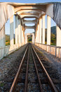 Train birdge in northern Thailand Stock Photos