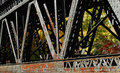 Train bridge detail Royalty Free Stock Photo