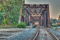 Train bridge near wealthy street grand rapids michigan Stock Photography