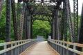 Train bridge old turned into bike path Stock Photography
