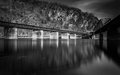Train bridges crossing the potomac river in harper s ferry wes west virginia Royalty Free Stock Images