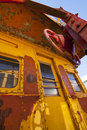 Train Caboose Closeup Royalty Free Stock Photos