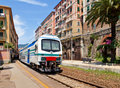 Train in Camogli. Italy Stock Photo