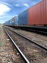Train With Cargo Royalty Free Stock Photo