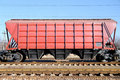 The train with cars for dry cargo Royalty Free Stock Photos