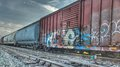 Train Cars and track Royalty Free Stock Photo