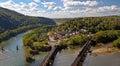 Train Crossing Bridge In Harpe...