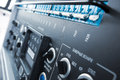 Train dashboard control panel close up macro Royalty Free Stock Images