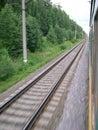Train de mouvement Images stock