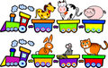 The train of farm animals Stock Photo