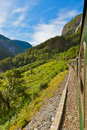 Train in Flam - Norway Royalty Free Stock Photo