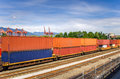 Train in a Freight Terminal Royalty Free Stock Photo